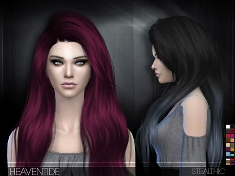 sims 4 custom content hairstyles sims 4 hairs stealthic heaventide hairstyle