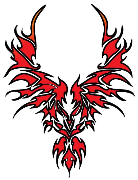 phoenix tattoo red red tribal phoenix tattoo design real photo pictures