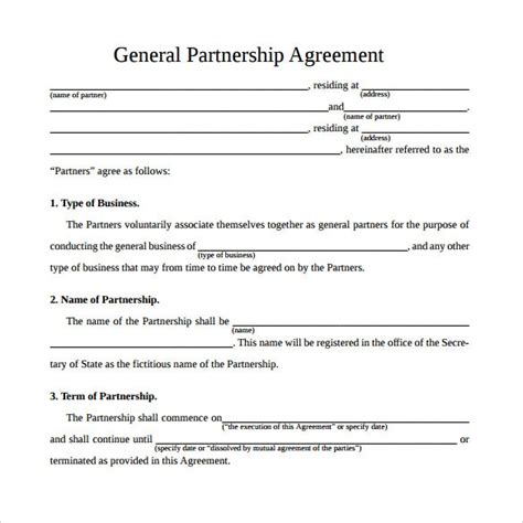 simple agreement simple business partnership agreement template itwas us