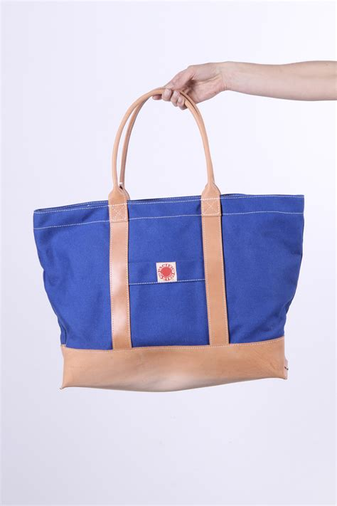 pacific tote co leather canvas big sur tote garmentory