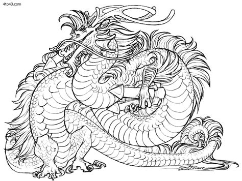 coloring pages of chinese dragons chinese dragon coloring pages to download and print for free