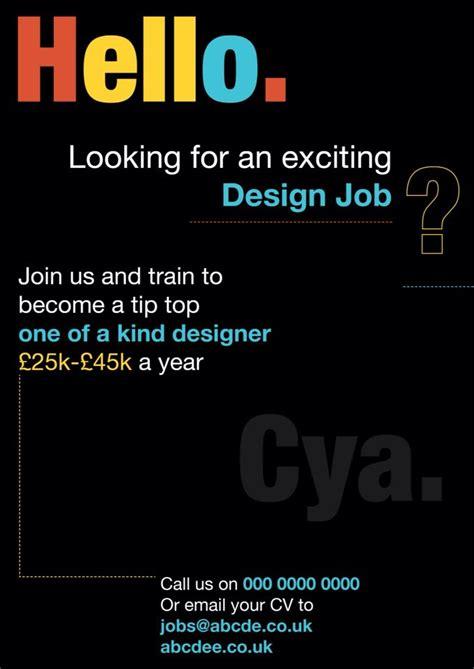 magazine layout design jobs job vacancy poster tipografico pinterest