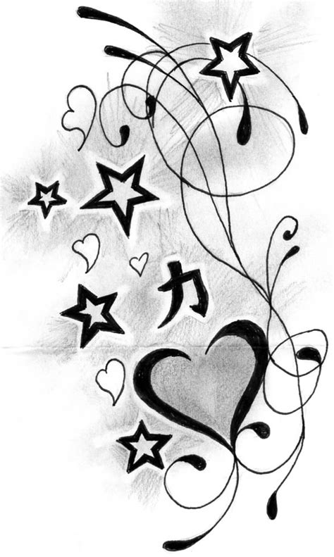 stars and heart tattoos designs n designs tattooshunt