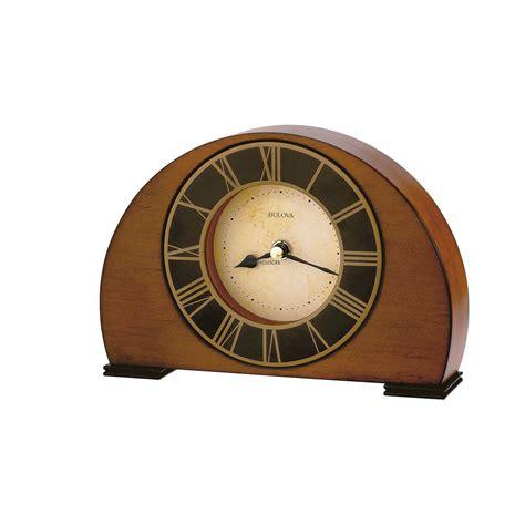 table top grandfather clock bulova deco tabletop clock at 1 800 4clocks com
