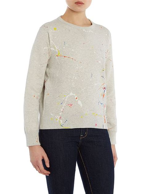 White Color Paint Sweater polo ralph paint splatter sweater ws0zbqhjb multi coloured www creativecaptures