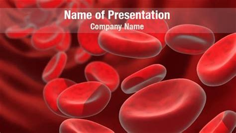 red blood cells stream powerpoint templates red blood
