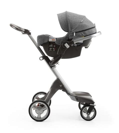 modern car seat and stroller transforms into a travel system with all stokke strollers