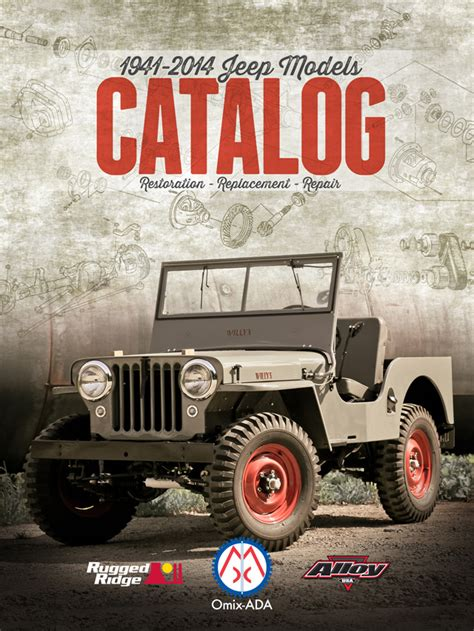 Jeep Parts Catalog Omix Ada Releases New Parts Catalog For Jeeps