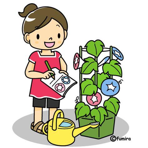 toilette pide アサガオ観察日記 カラー 子供と動物のイラスト屋さん わたなべふみ