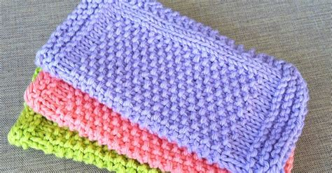 knit seed stitch healthy and happy wallet seed stitch dishcloths