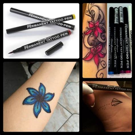 fake tattoo drawing pen semi permanent tattoo pen light green tattooforaweek