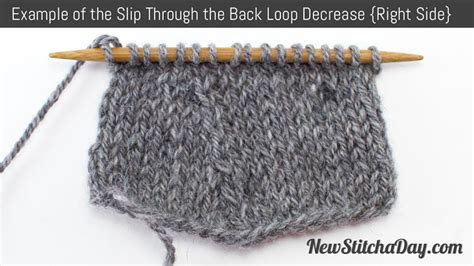 knit through front loop how to knit the slip through the back loop decrease new
