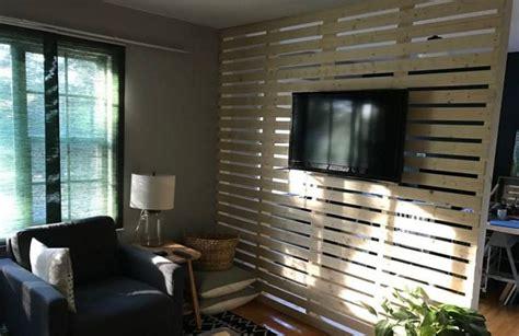 diy wood plankslat wall divider room divider bookcase