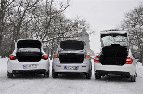 Wie Viele Steuerger Te Hat Ein Auto by Limousinenvergleich Mitsubishi Lancer Opel Astra škoda