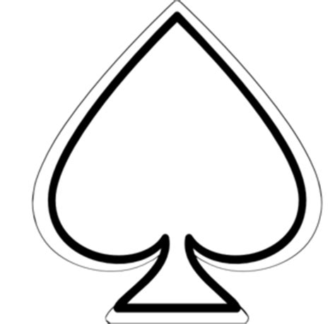 Spade Card Template by Spade Myconos Clip At Clker Vector Clip