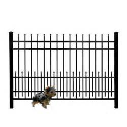 home depot iron fence mainstreet aluminum fence 3 4 in x 1 5 ft x 6 ft
