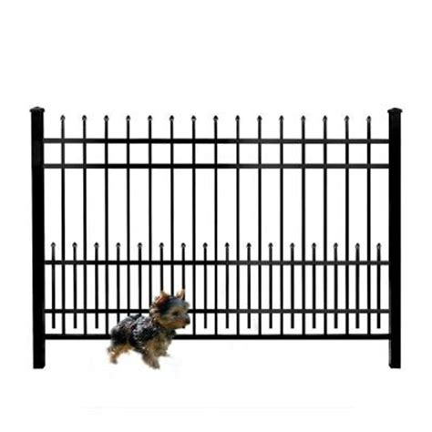 mainstreet aluminum fence 3 4 in x 1 5 ft x 6 ft