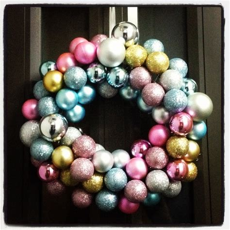 bauble wreath christmas pinterest