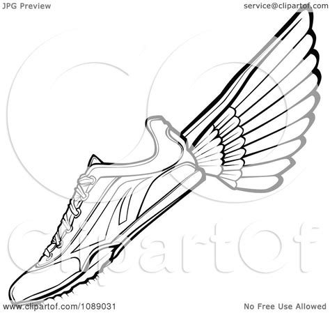 running shoes free colouring pages