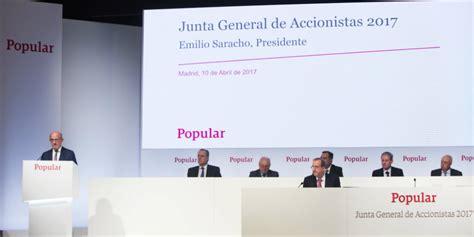 cotizacion banco popular historico los accionistas minoritarios instan una investigaci 243 n por