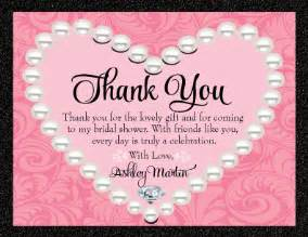 pink diamonds pearls thank you card di 1508ty custom