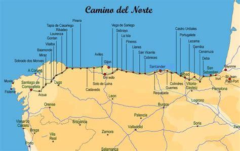 camino norte mapa camino de santiago norte nabcd
