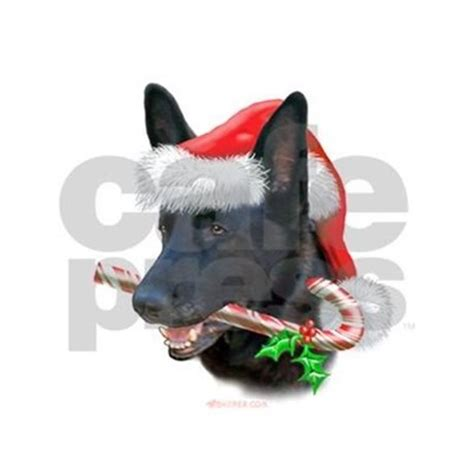 german shepherd christmas ornament round by bhymer