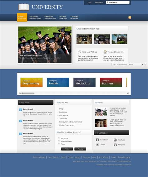 university website templates college university college university website template