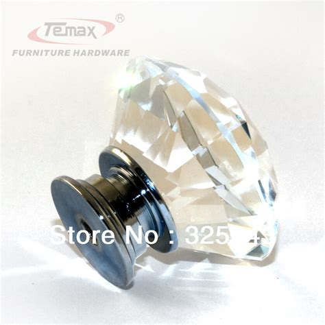 Clear Zinc Glass Crystal Bedroom Furniture Kitchen Drawer Bedroom Dresser Knobs