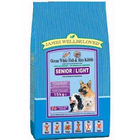 senior light dry dog food james wellbeloved senior light dog food 15kg