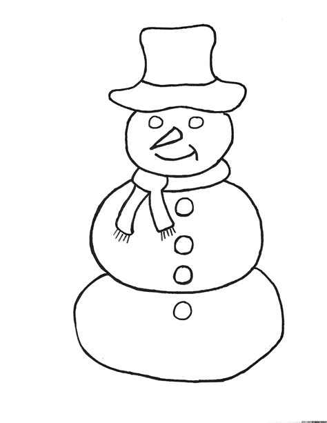 simple snowman coloring page simple snowman coloring pages frosty the snowman
