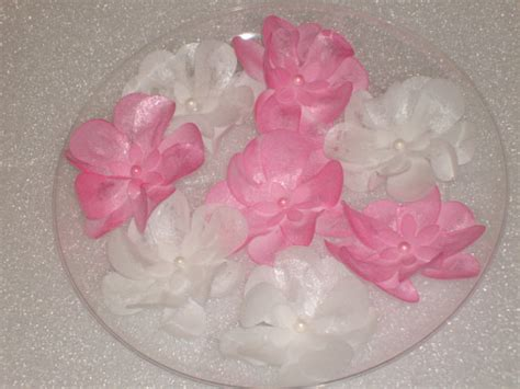 edible wafer paper flowers for cakes cookies and cupcakes