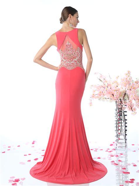Bl V Slit v neck evening dress with slit sung boutique l a