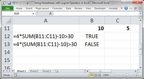 excel tutorial norsk using parentheses in excel teachexcel com