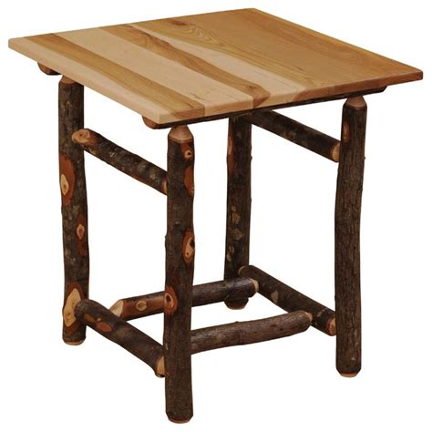 large end table hickory large promotional end table the log furniture store