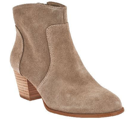sole society boots sole society leather ankle boots romy a265818 qvc