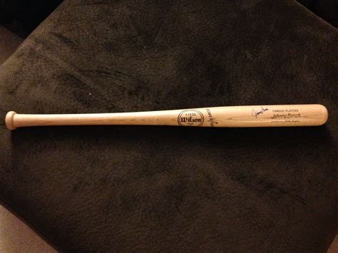 johnny bench bat lot detail johnny bench signed little league bat