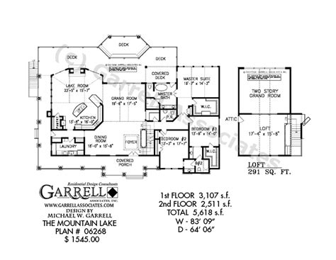 porch floor plans mountain lake house plan craftsman house plans