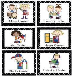 center signs prekinders