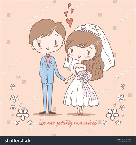 Clipart Wedding Pics by Groom On Pastel Color Stock Vector 275902994