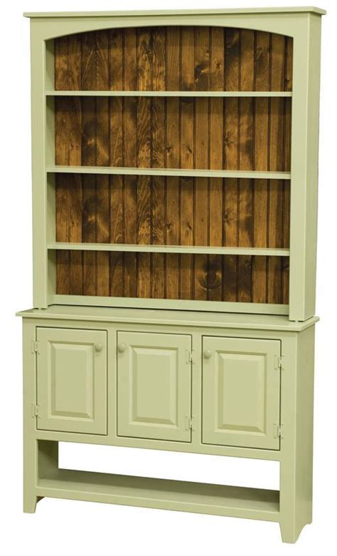 Sideboard With Hutch amish pine wood sideboard with hutch top
