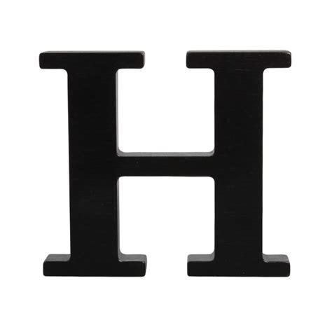 Wooden letter H, black H