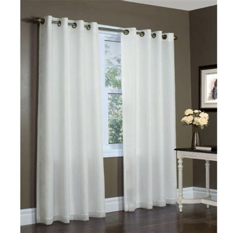 104 inch curtains 104 inch by 84 inch ivory rhapsody semi sheer lined