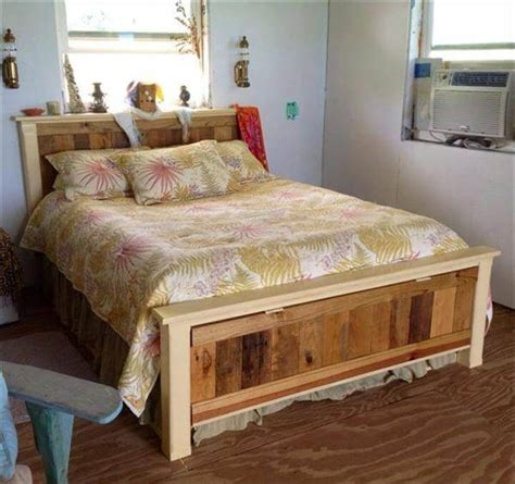 queen pallet bed 42 diy recycled pallet bed frame designs