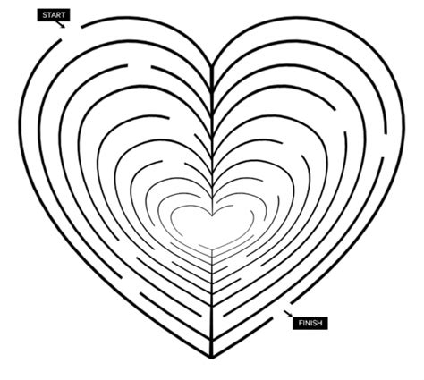 printable valentine s maze valentine printable heart maze parents scholastic com