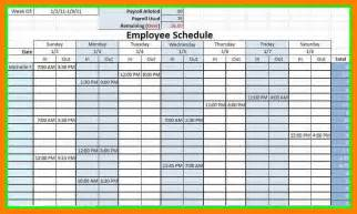 8 blank monthly employee schedule template excel basic