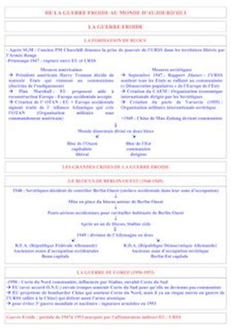guerre froide résumé simple pdf r 233 vision brevet histoire de la guerre froide au monde d aujourd hui r 233 sum 233 et tds