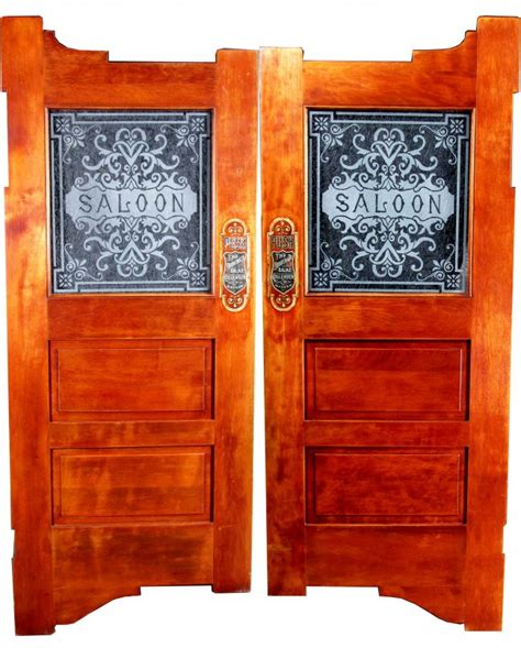 Pair Of Etched Glass Oak Saloon Doors Lot 1477a Glass Saloon Doors
