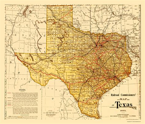 texas railroad commission map state maps railroad commissioners map of texas 1897