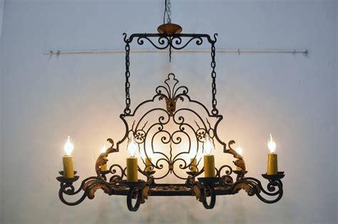 kitchen island chandelier ten light iron kitchen island chandelier at 1stdibs